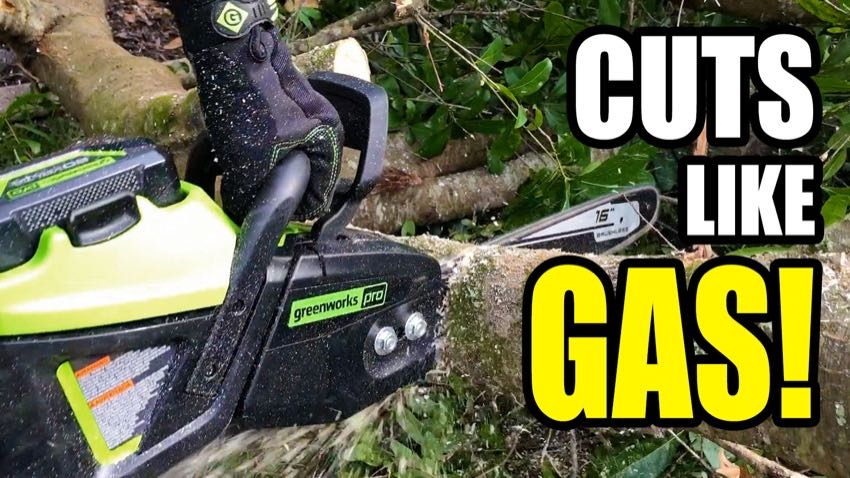 Greenworks 60V chainsaw video review