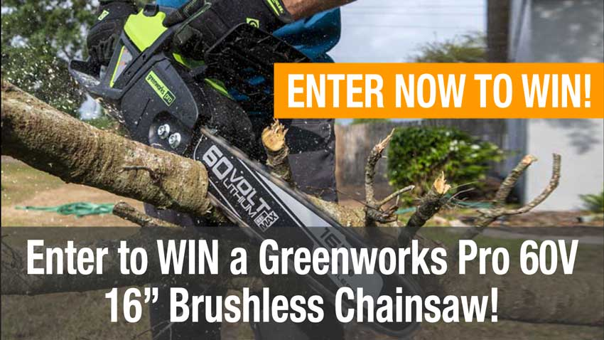 OPE tool giveaway Greenworks 60V Chainsaw